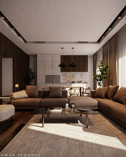 Warm & Rustic mood rich with natural material and colors.