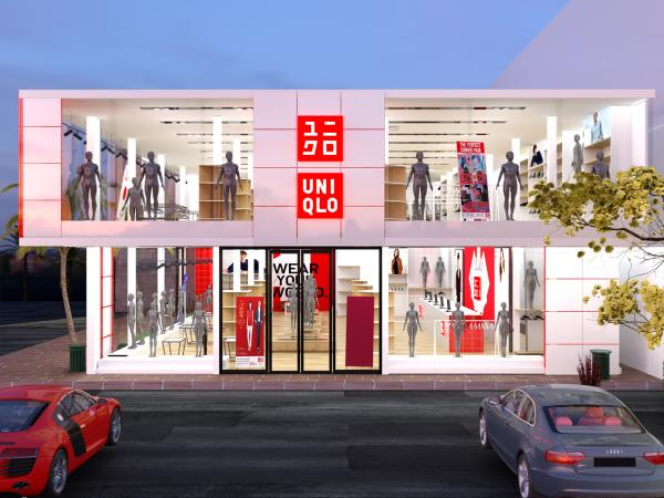 UNIQLO FASHION RETAIL STORE 3D DESIGN