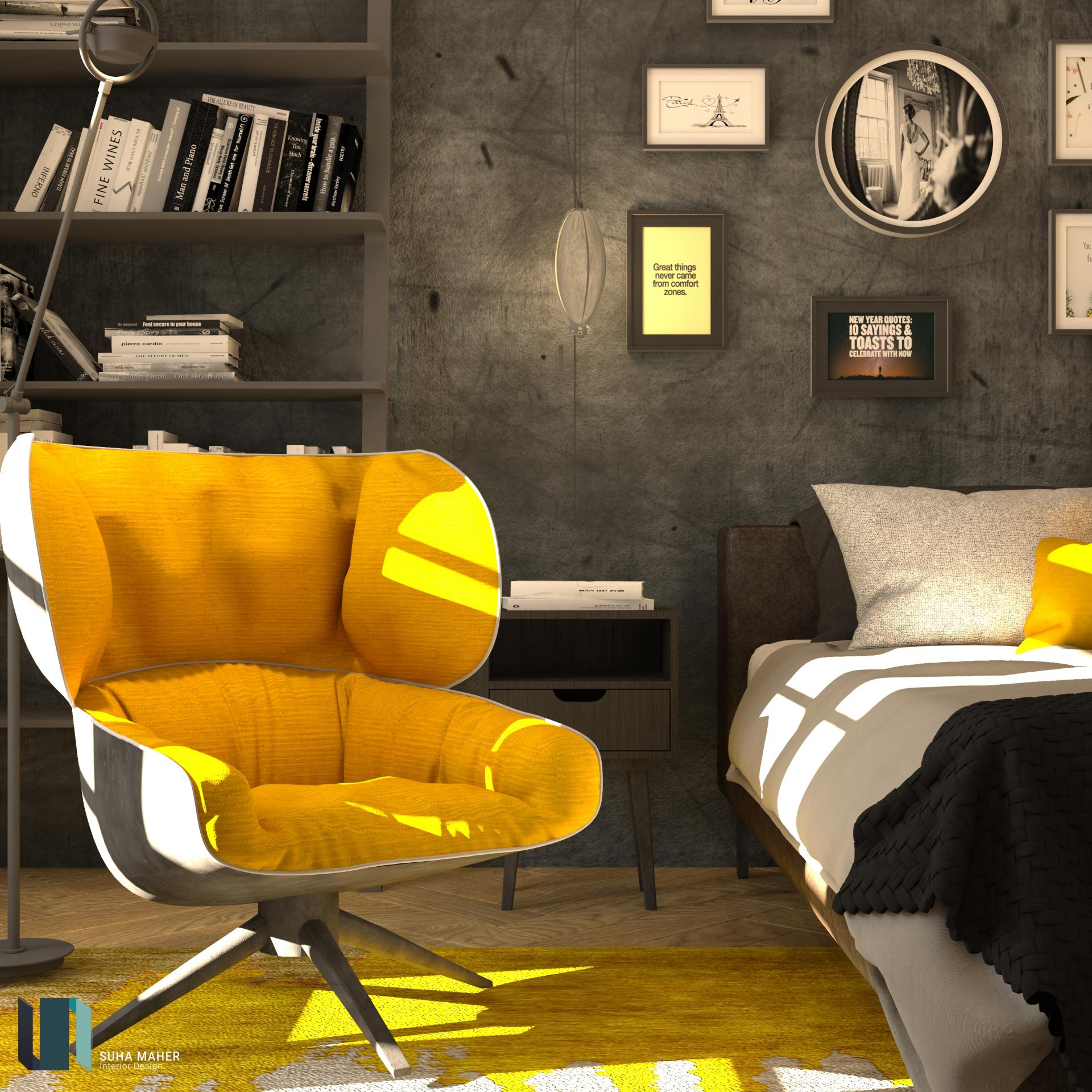 yellow touch bedroom