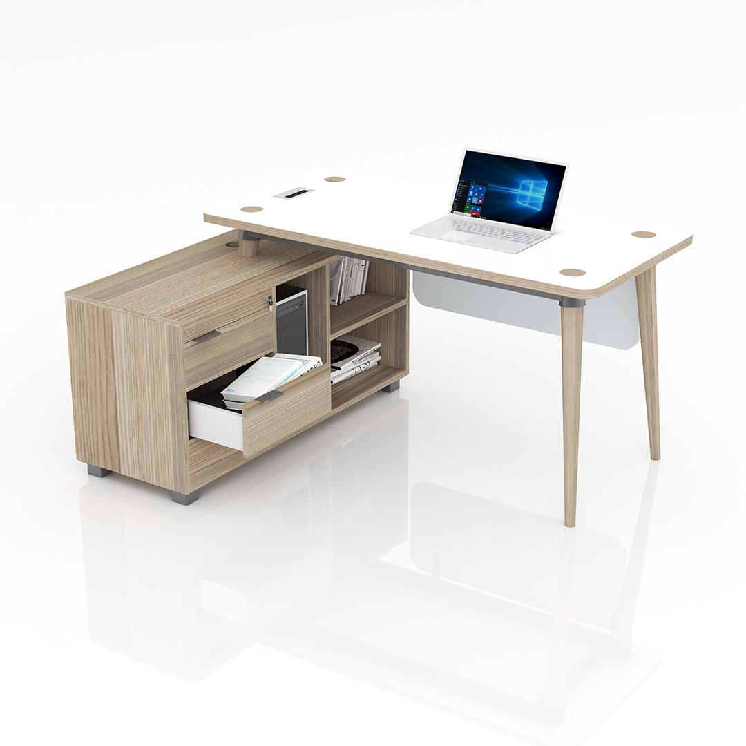 Domino Desk with Side