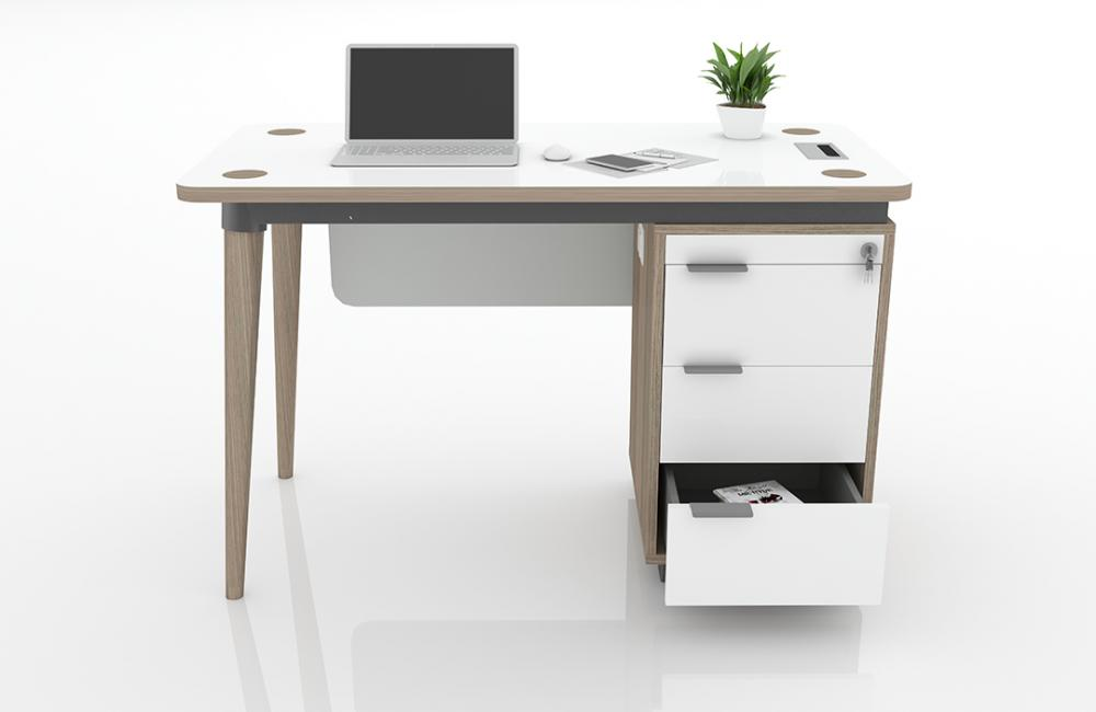 Domino Free Desk with Drawers