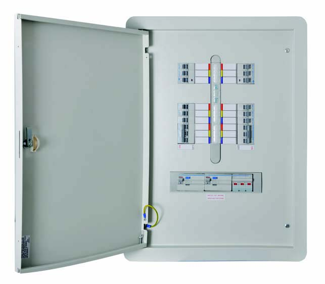 Enclosure  , Invicta -TPN 125 type B distribution Board, 10 Way