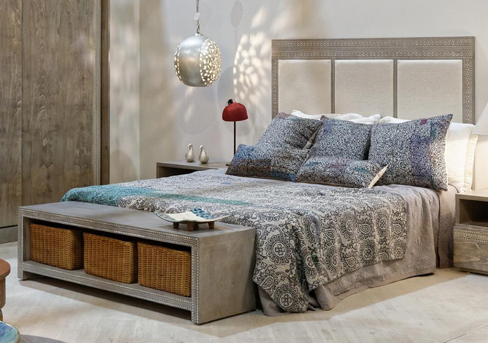 3 fabric panel bed