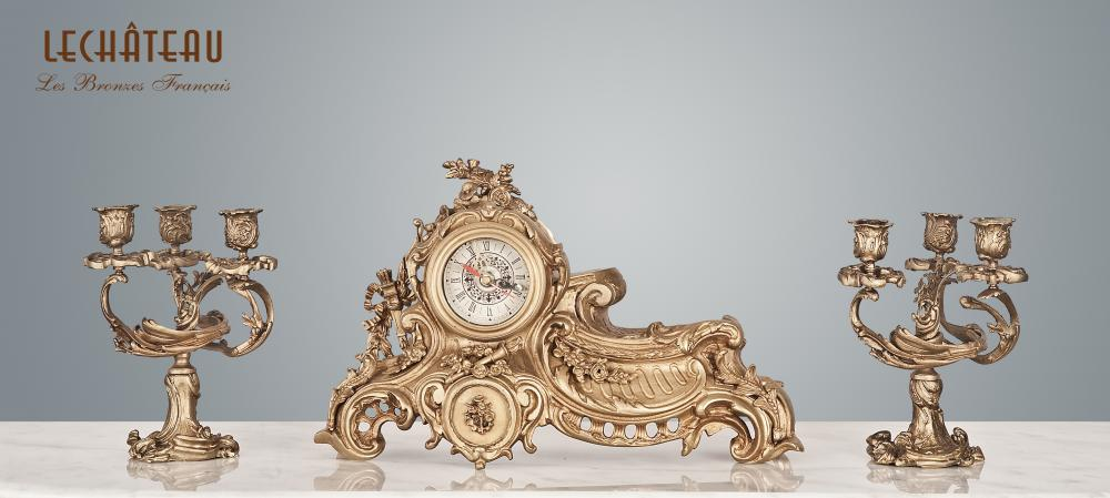 Candle Holder & Clock Cl.82194