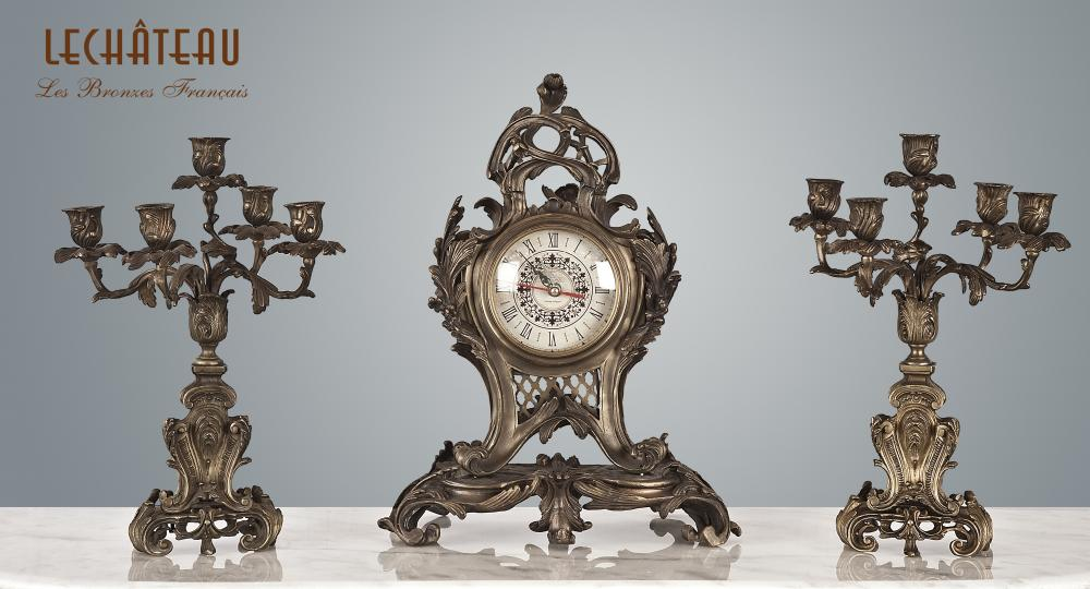 Candle Holder & Clock Cl.82204