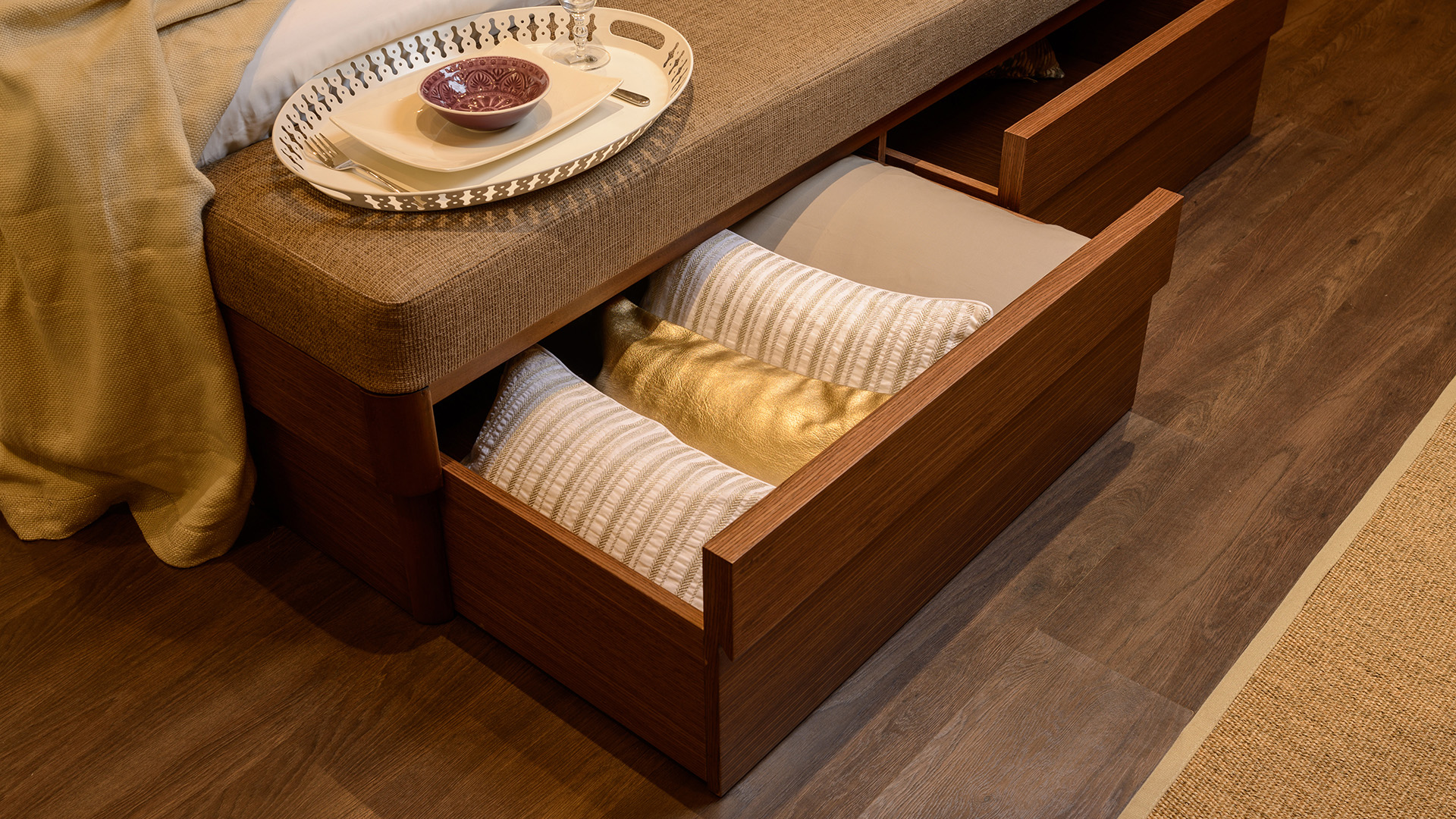Andalusia master Bed 180 with drawers